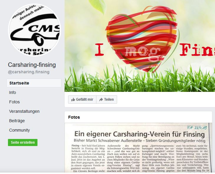 CarSharing Finsing in FB